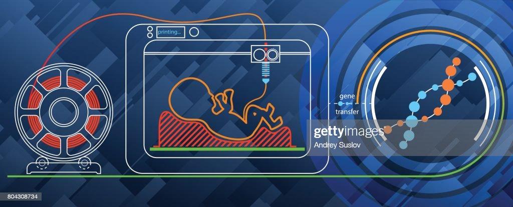 Print a human embryo on a 3D printer for DNA.
