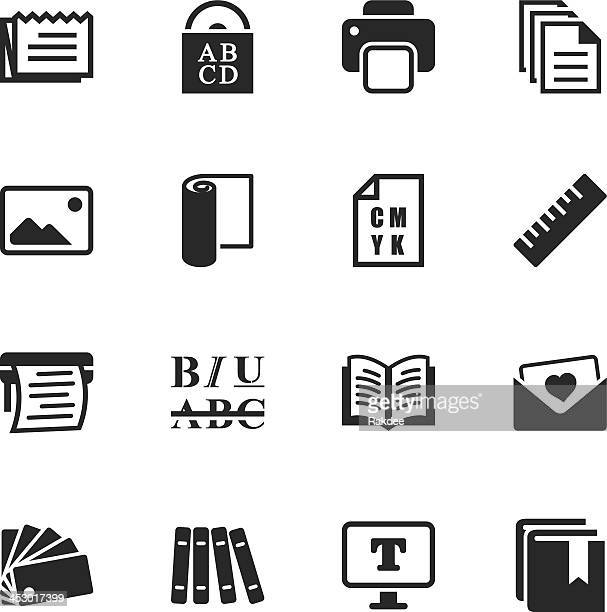 Print and Publishing Silhouette Icons