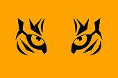 Print eye of tiger
