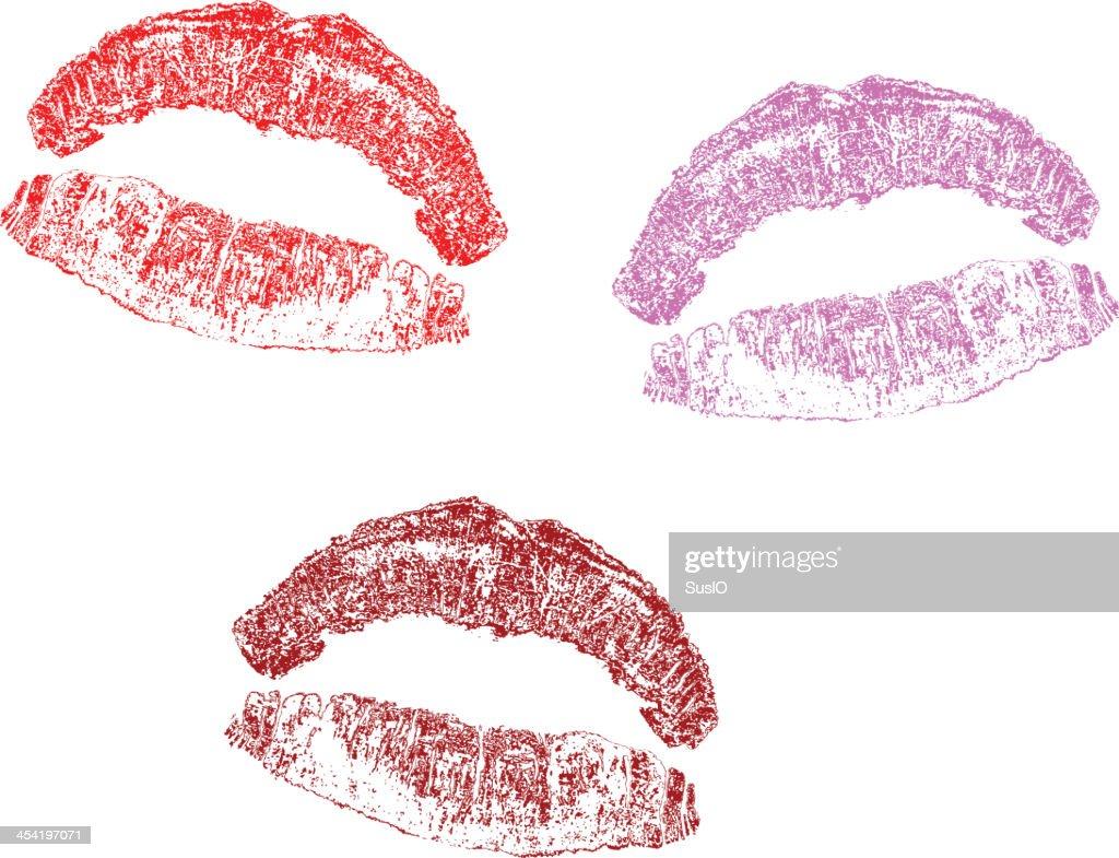 Impressão de Lábios : Arte vetorial