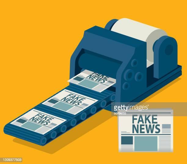 ilustrações, clipart, desenhos animados e ícones de jornal impresso - fake news - fake news