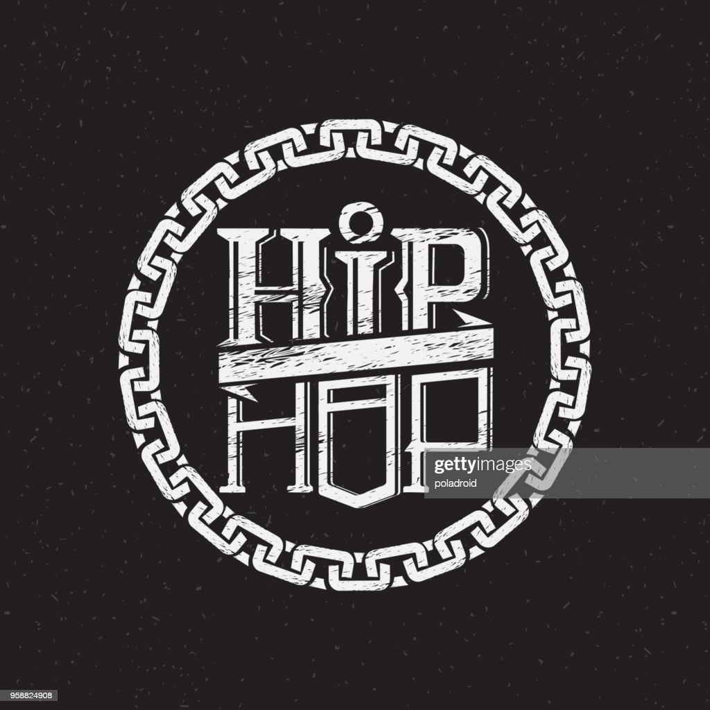 print on shirt or poster of hip hop