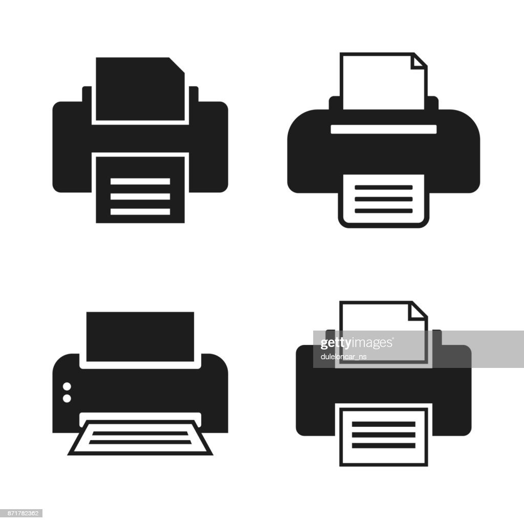 Print Printer Vector Icons
