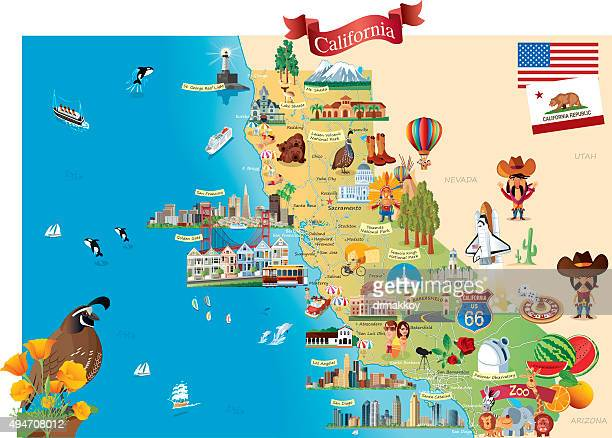 print - california stock illustrations