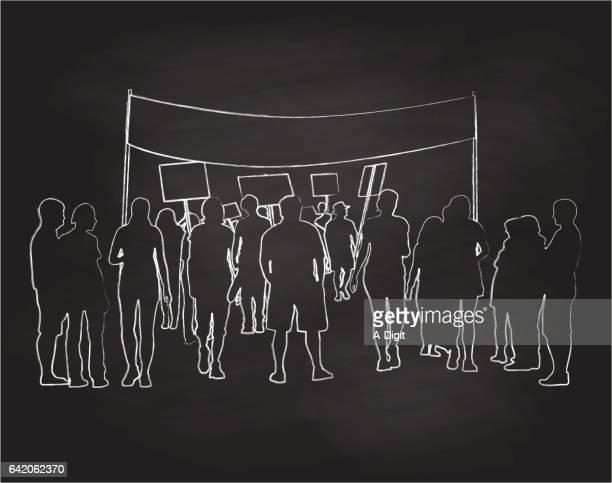 print - activist icon stock illustrations