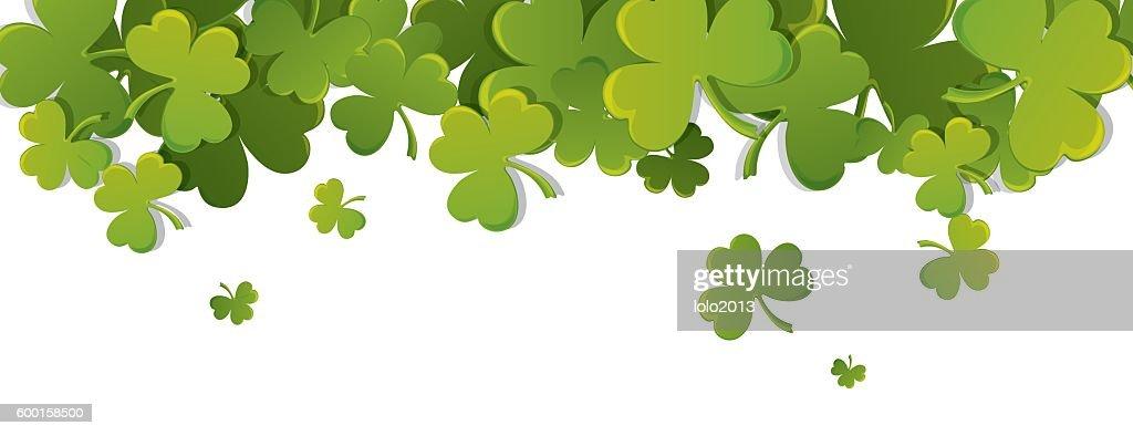 Print With Shamrock For St Patricks Day Vektorgrafik - Getty ...