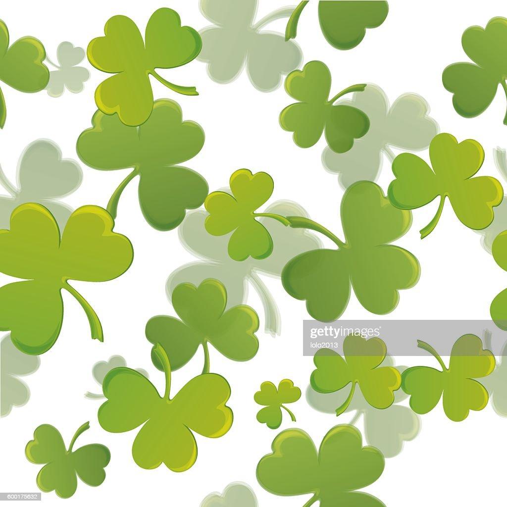 Print With Shamrock For St Patricks Day Stock-Illustration ...