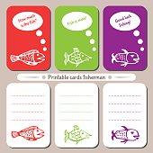 Printable cards fisherman