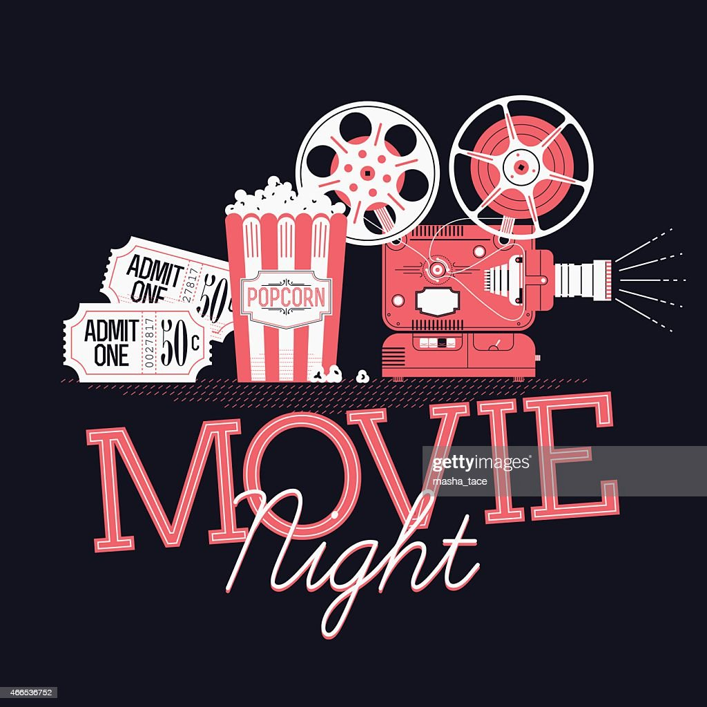 Printable design element on Movie Night event