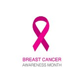 PrintBreast cancer awareness pink ribbon