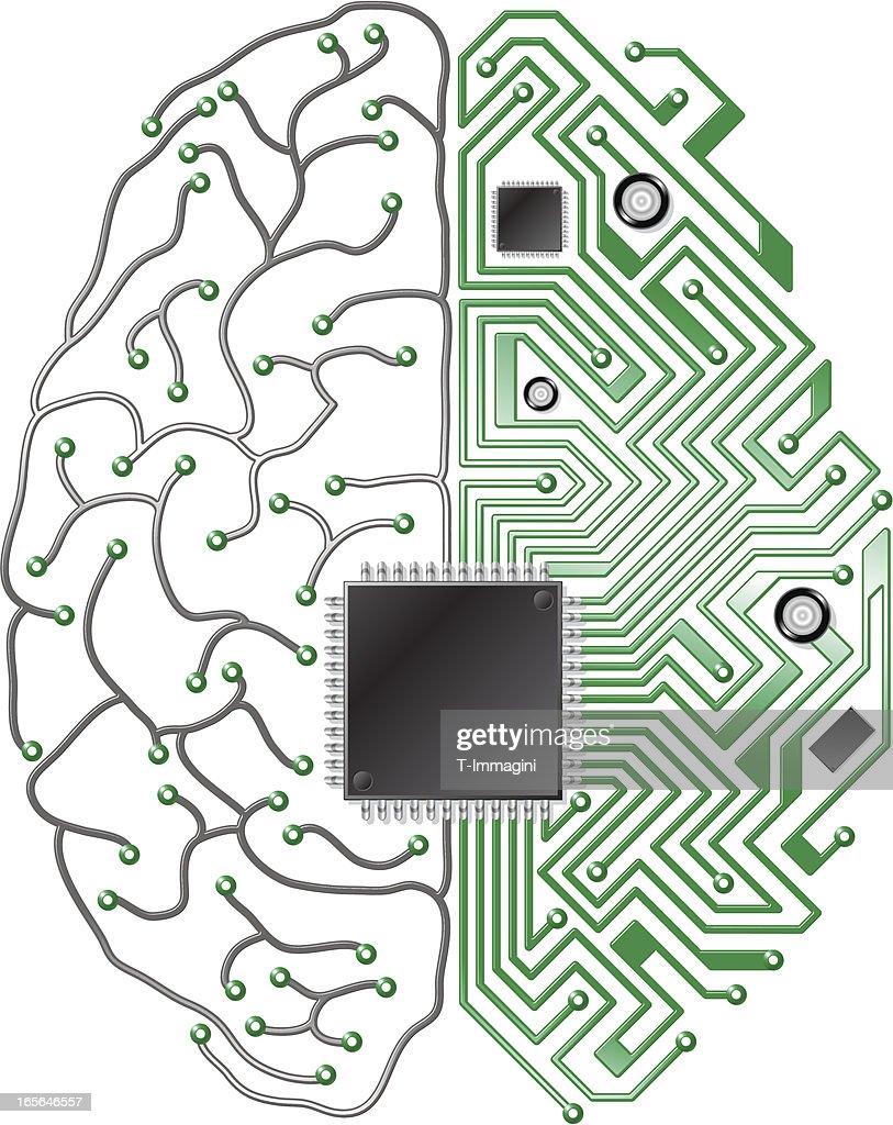 Printed Circuit Board Brain Vector Art | Getty Images