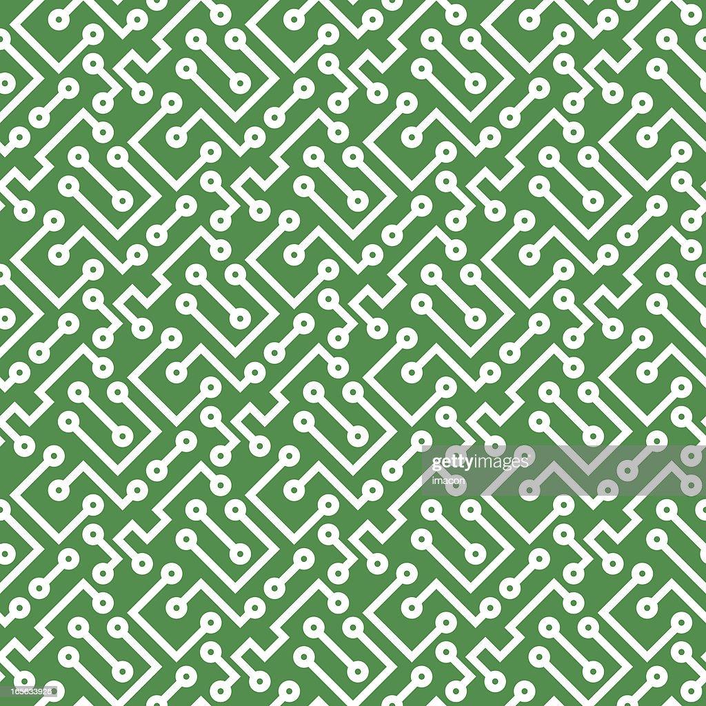 Printed Circuit Board Seamless Vector Illustration Art Paper