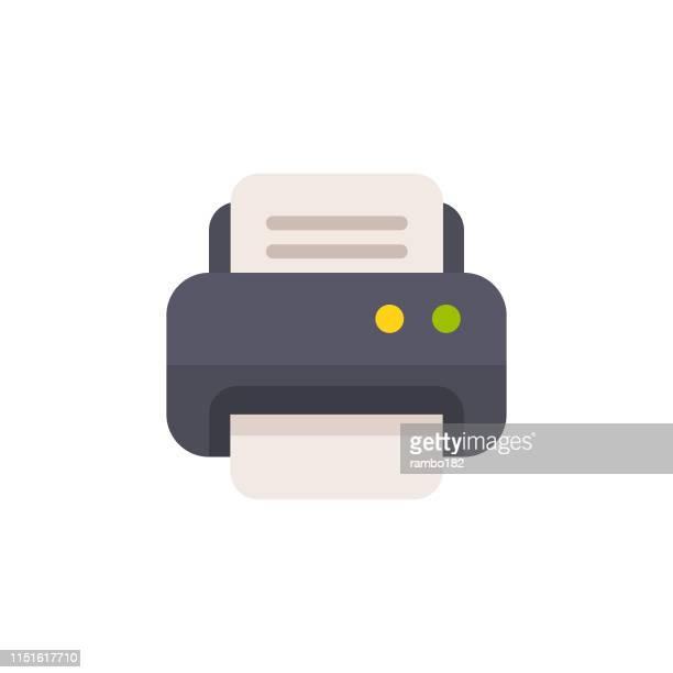 プリンタのフラットアイコン。ピクセルパーフェクト。モバイルと web 用。 - コピーする点のイラスト素材/クリップアート素材/マンガ素材/アイコン素材