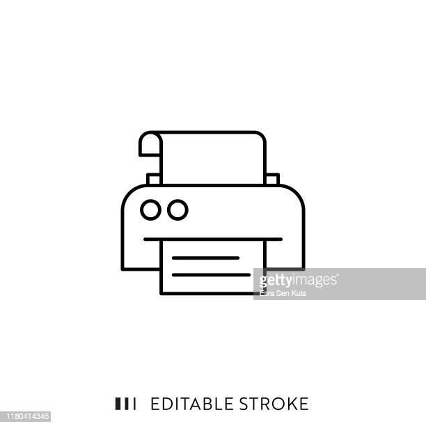 編集可能なストロークとピクセルパーフェクトを持つプリンタアイコン。 - プリンター点のイラスト素材/クリップアート素材/マンガ素材/アイコン素材