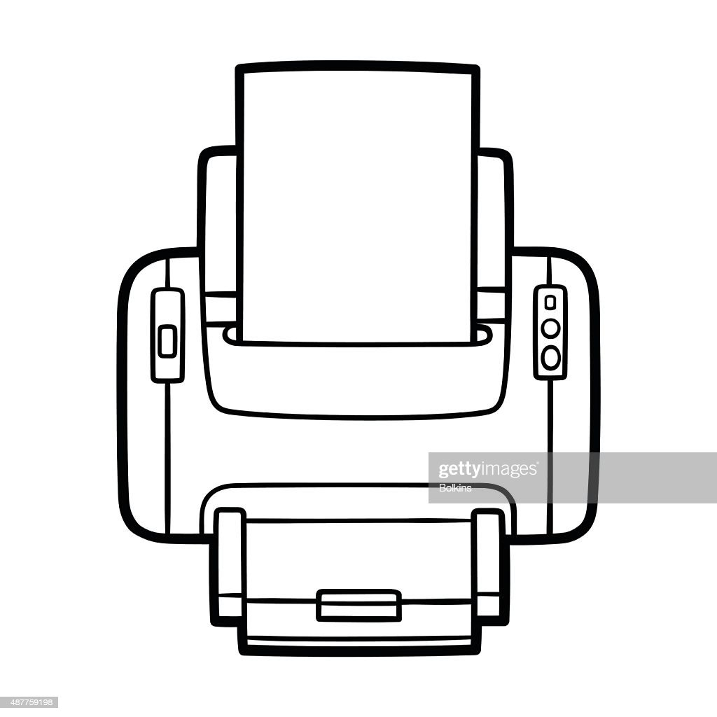 printer in outlines