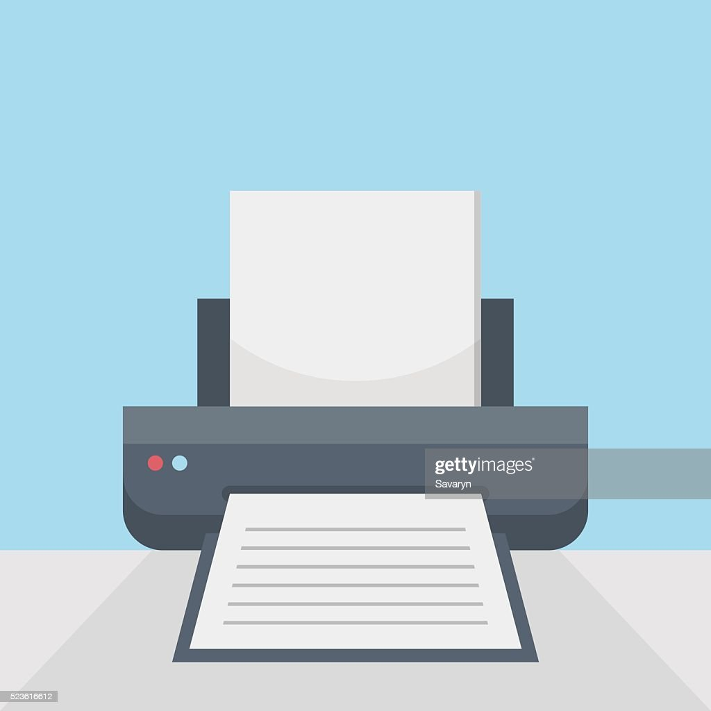 Printer on table