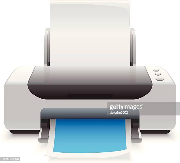 printer - printer stock illustrations, clip art, cartoons, & icons