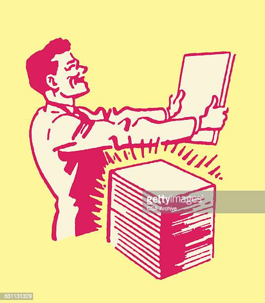 printer with stack of new paper - glühend stock illustrations