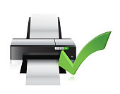 printer working fine illustration design over a white background