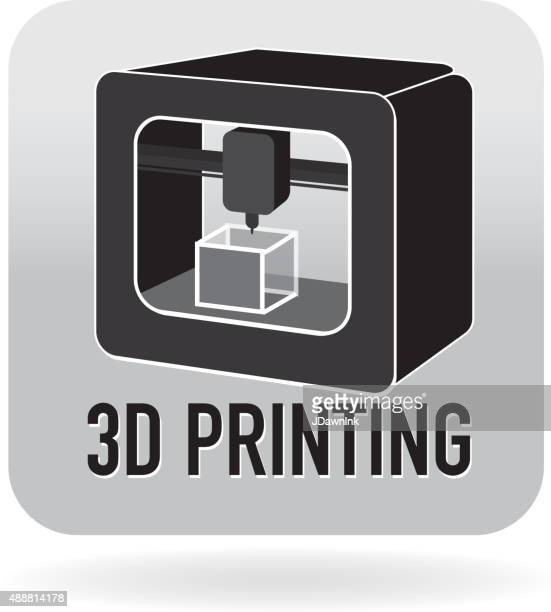 3D printing icon in gray