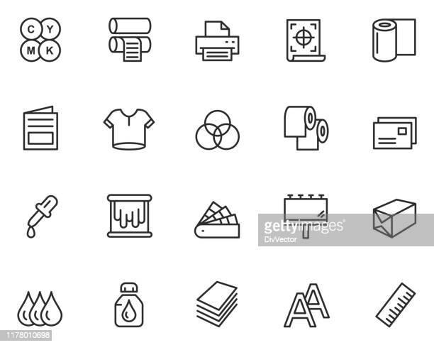 印刷アイコンセット - 印刷機点のイラスト素材/クリップアート素材/マンガ素材/アイコン素材