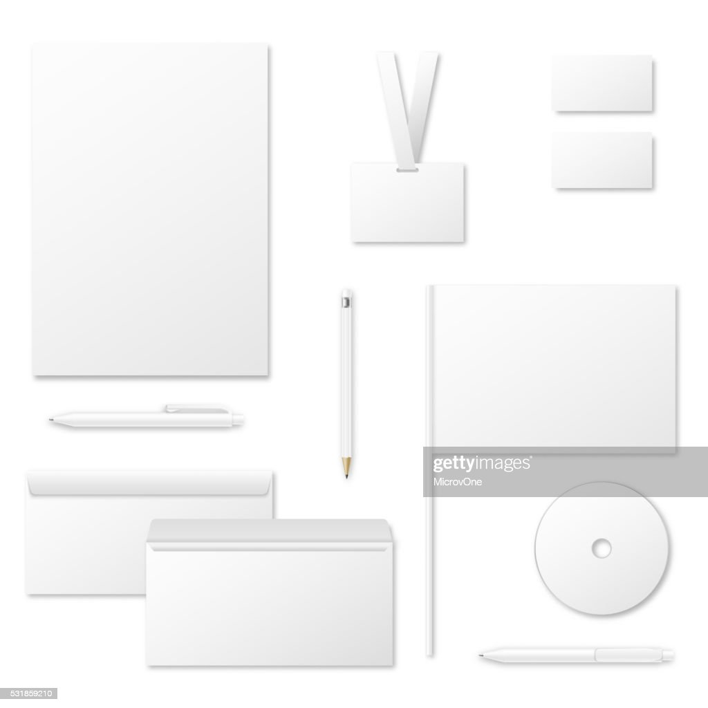 Printing materials vector template for corporate identity