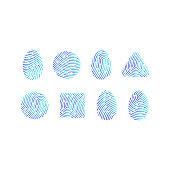 prints fingerprints icons
