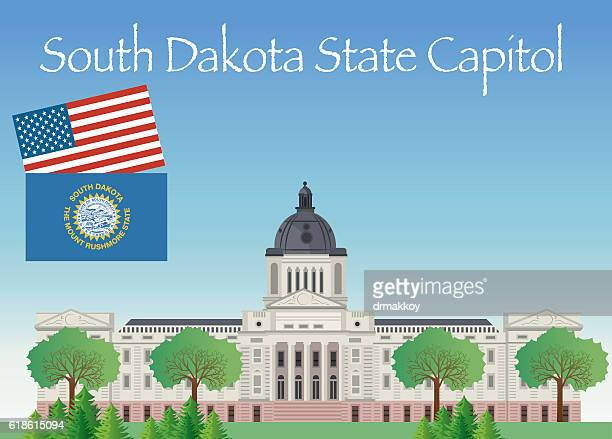 printsouth dakota state capitol - south dakota stock illustrations, clip art, cartoons, & icons