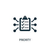 Priority icon. Simple element illustration