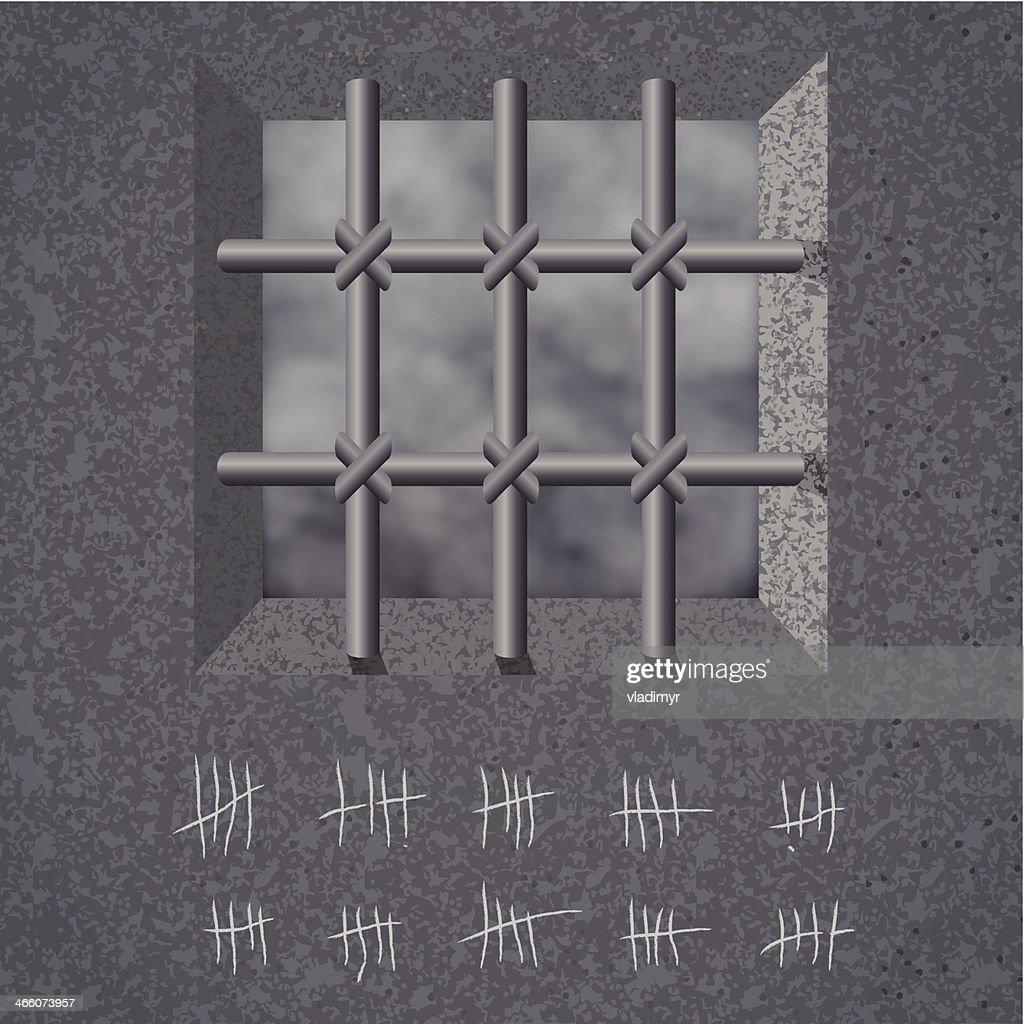 Prison background. Vector