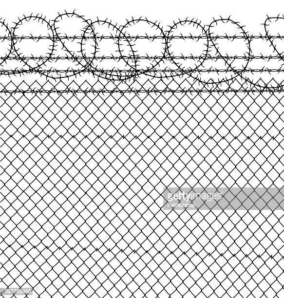 Prisión de alambradas & Eslabón de cadena valla