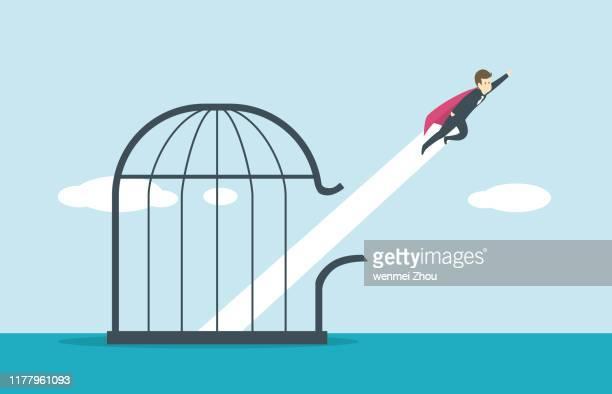 prison escape - prison escape stock illustrations