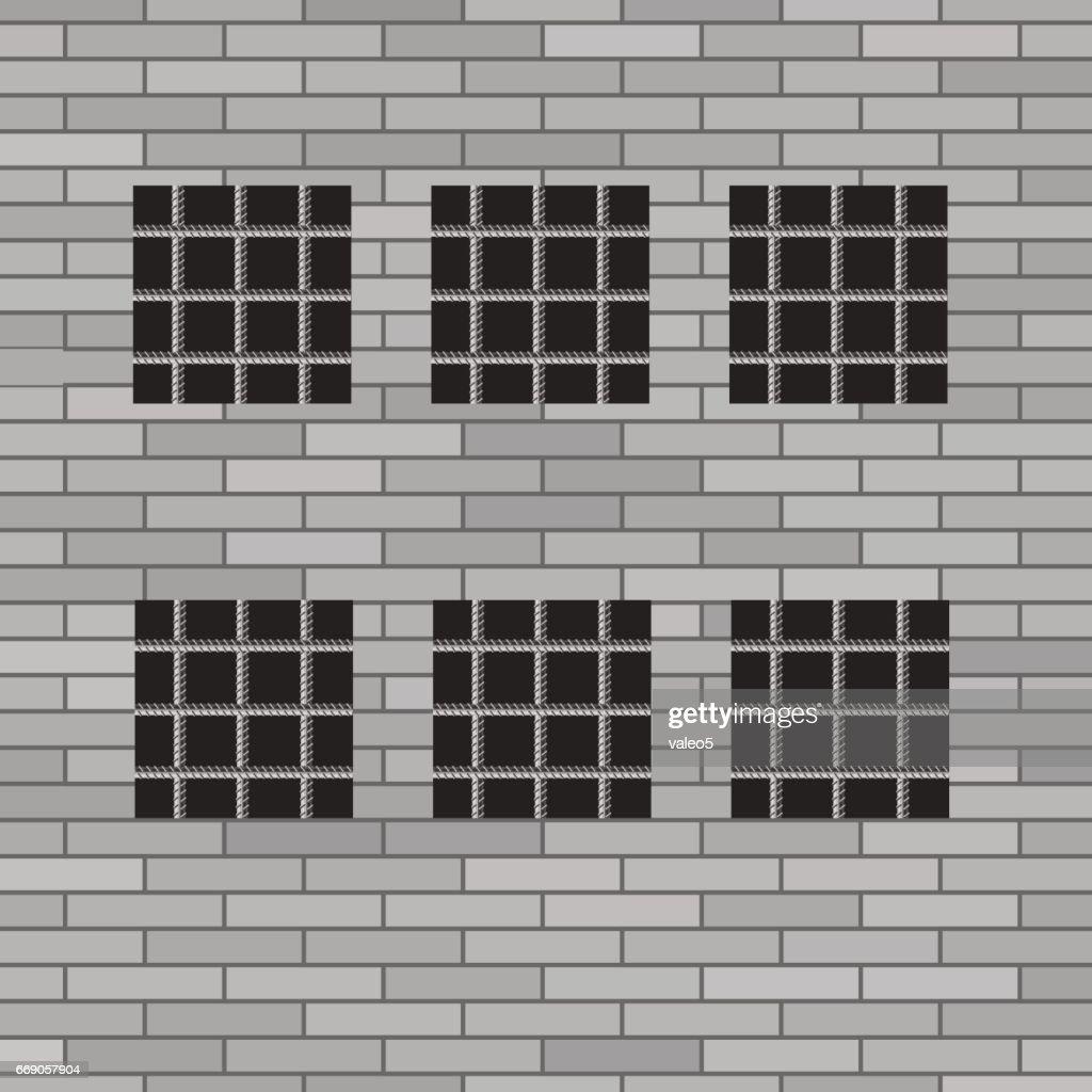 Prison Grey Brick Wall