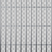 Prison grid. Metallic cage isolated on transparent background. Vector illustration