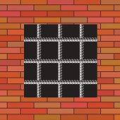 Prison Orange Wall