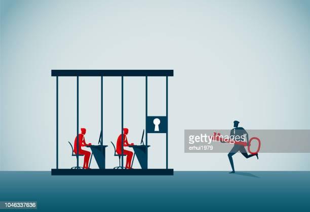 prison - dictator stock illustrations