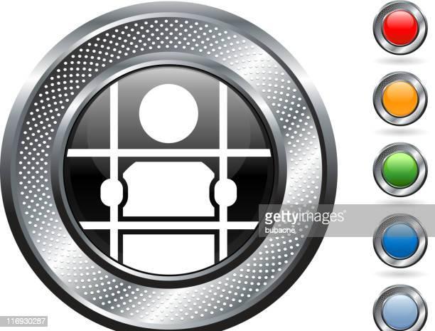 Gefangener lizenzfreie Vektorgrafik mit metallic-Knöpfen
