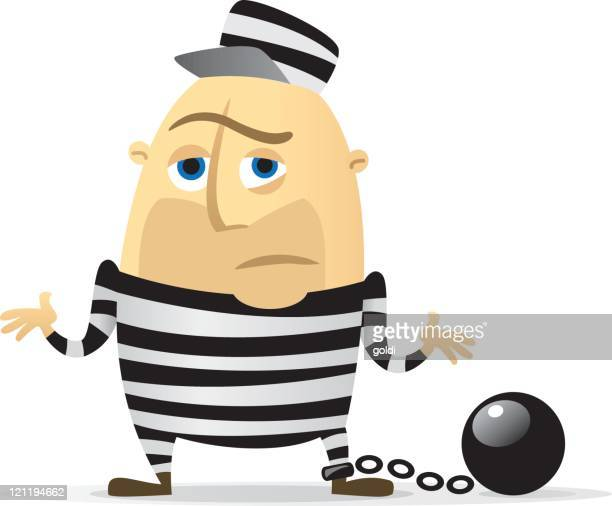 prisoner - shrugging stock illustrations, clip art, cartoons, & icons