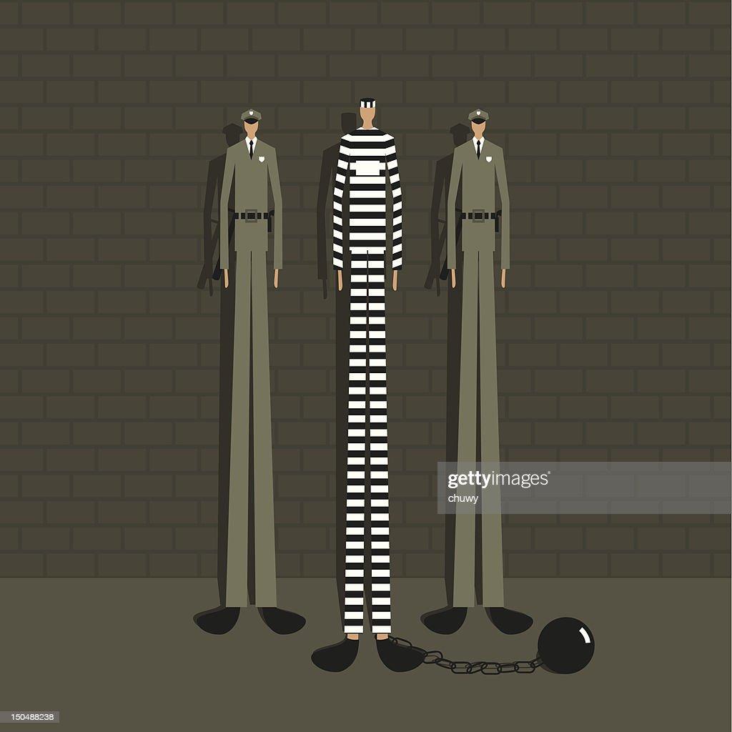 Prisoner : Stock Illustration