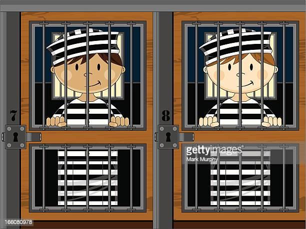 Gefangenen in Gefängnis Zellen
