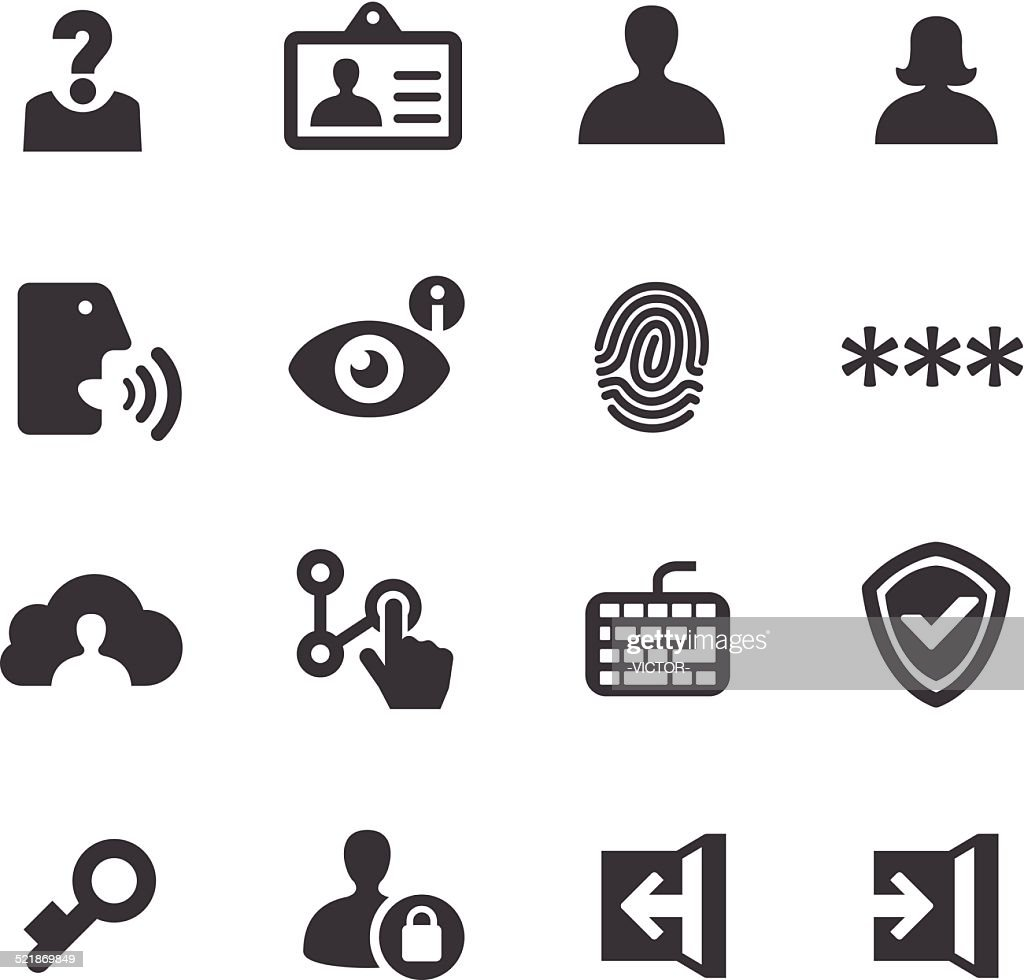Privacy and Identification Icons - Acme Series