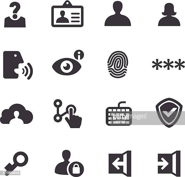 privacy and identification icons - acme series - personal information stock illustrations, clip art, cartoons, & icons