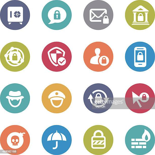 Privacy and Internet Security Icons - Circle Series