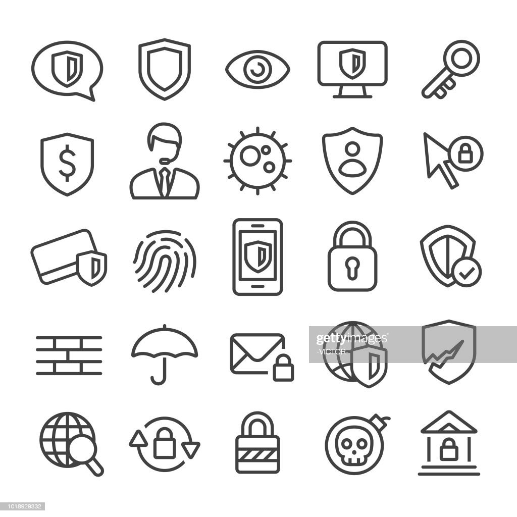 Privacy and Internet Security Icons - Smart Line Series
