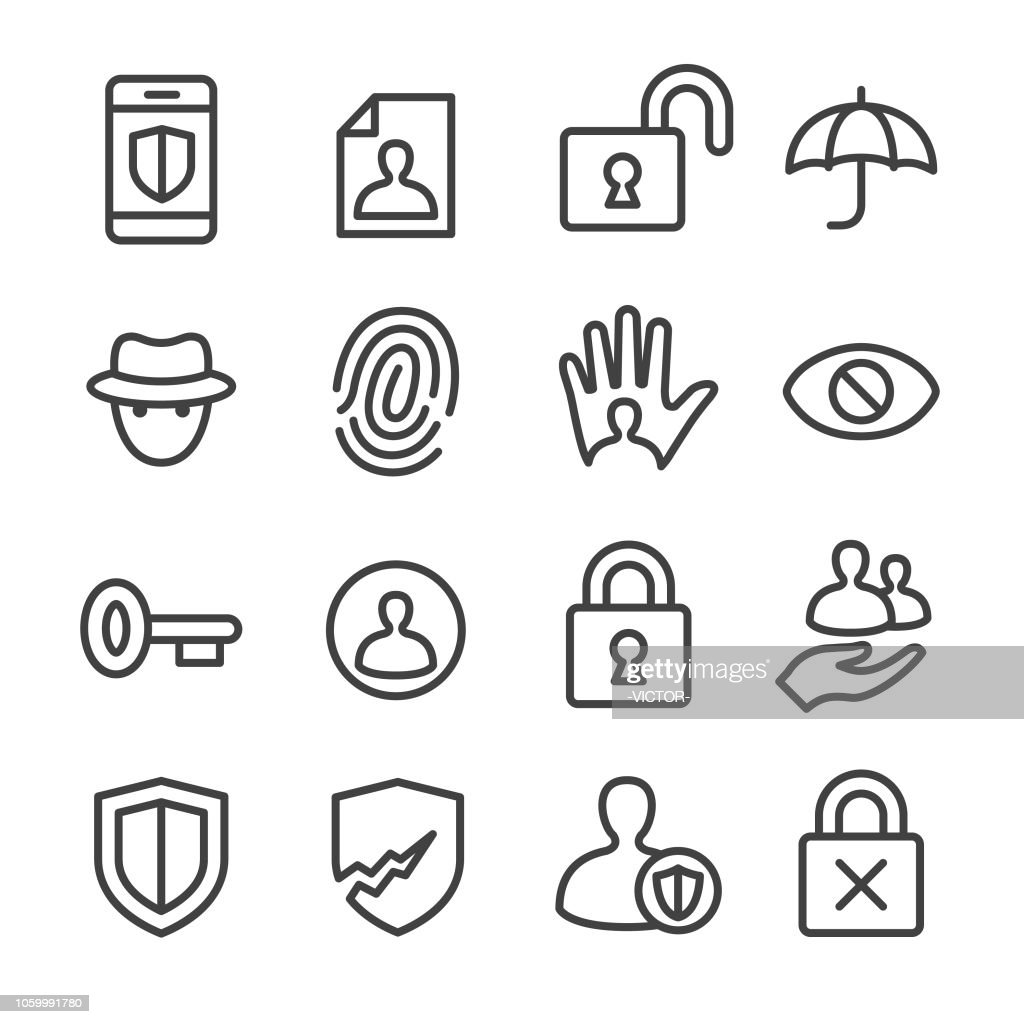 Privacy Icons - Line Series