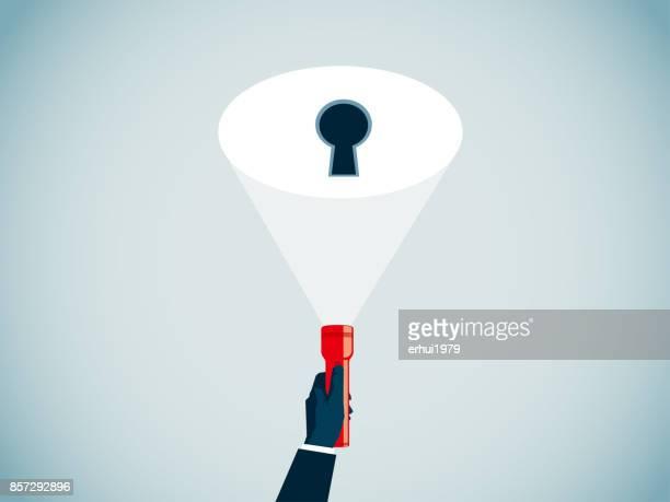 privacy - flashlight beam stock illustrations, clip art, cartoons, & icons