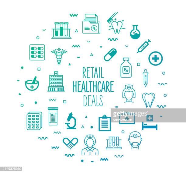 民間医療取引の概要スタイルのインフォグラフィックデザイン - 小児科医点のイラスト素材/クリップアート素材/マンガ素材/アイコン素材