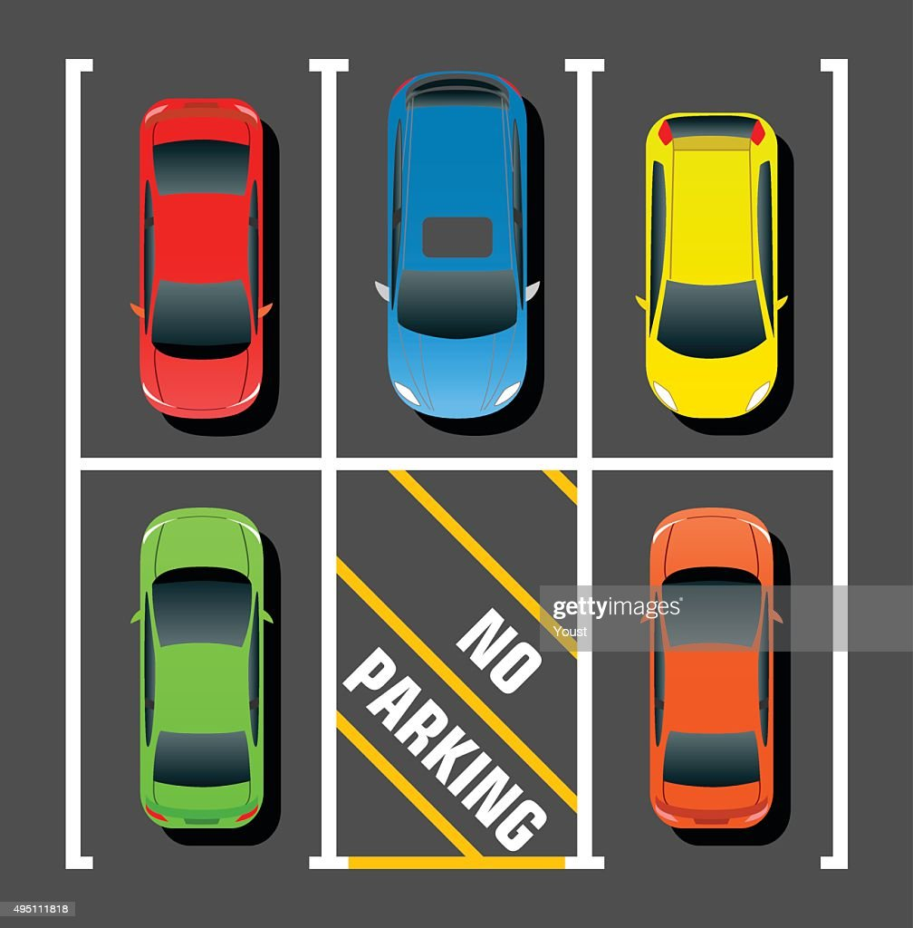 Private Parking : stock illustration