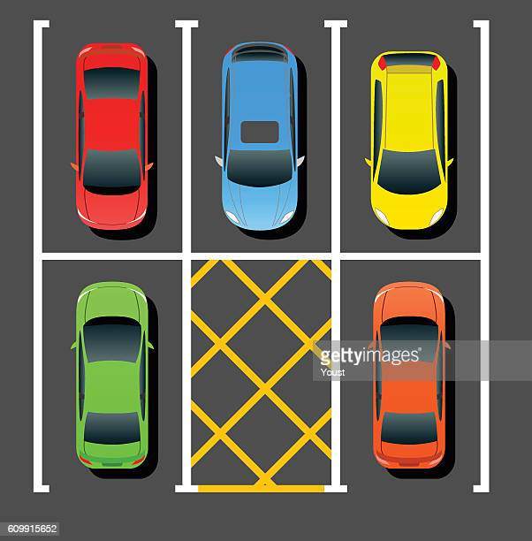private parking - dividing line road marking stock illustrations, clip art, cartoons, & icons