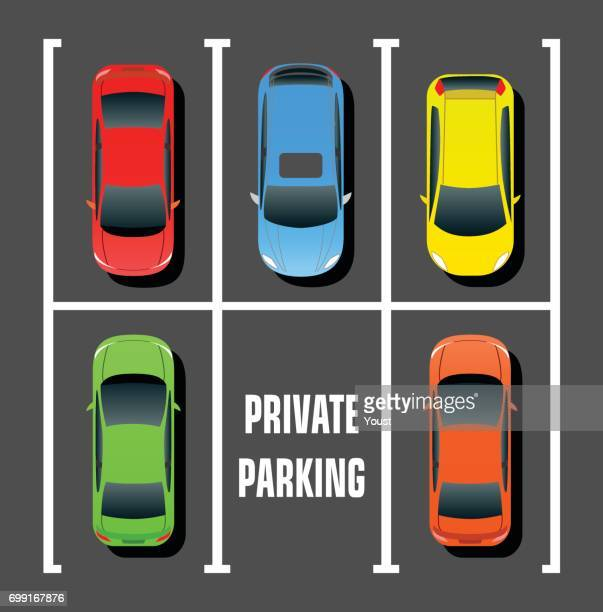 private parking - parking stock illustrations, clip art, cartoons, & icons